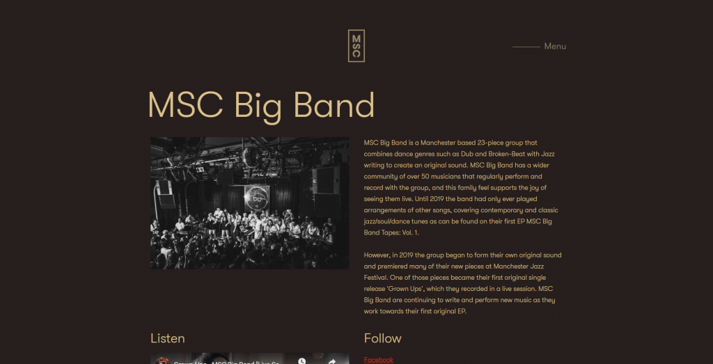 MSC Records - MSC Big Band artist page